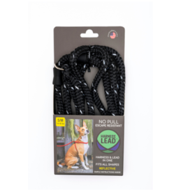 Harness Lead Harness Lead | Black Reflective Small 14-40 lbs