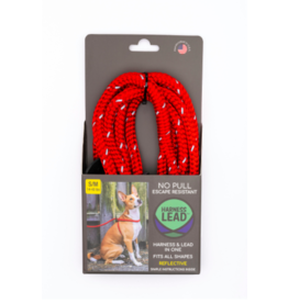 Harness Lead Harness Lead | Red Reflective Small 14-40 lbs