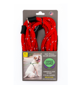 Harness Lead Harness Lead | Red Reflective Large 40-170 lbs
