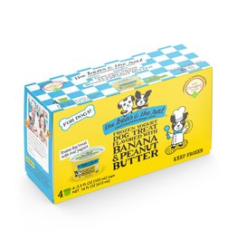 The Bear & The Rat The Bear and The Rat Frozen Ice Cream Dog Treats Banana and Peanut Butter 4 pk (*Frozen Products for Local Delivery or In-Store Pickup Only. *)