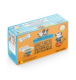 The Bear & The Rat The Bear and The Rat Frozen Ice Cream Dog Treats Pumpkin 4 pk (*Frozen Products for Local Delivery or In-Store Pickup Only. *)