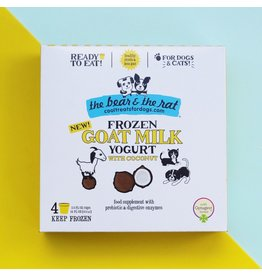 The Bear & The Rat The Bear and The Rat Frozen Goat Milk Yogurt Dog Treats with Coconut 4 pk (*Frozen Products for Local Delivery or In-Store Pickup Only. *)