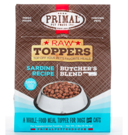 Primal Primal Raw Toppers | Butcher's Blend Sardine Grind - Meat, Bone & Organ 2 lb (*Frozen Products for Local Delivery or In-Store Pickup Only. *)