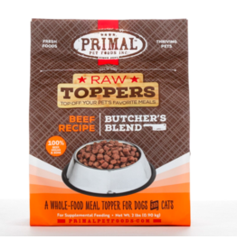 Primal Primal Raw Toppers | Butcher's Blend Beef Grind - Meat, Bone & Organ 2 lb (*Frozen Products for Local Delivery or In-Store Pickup Only. *)