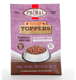 Primal Pet Foods Primal Raw Toppers | Market Mix Turkey & Produce 5 lb (*Frozen Products for Local Delivery or In-Store Pickup Only. *)