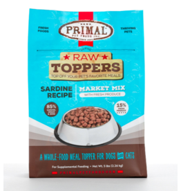 Primal Primal Raw Toppers | Market Mix Sardine & Produce 5 lb (*Frozen Products for Local Delivery or In-Store Pickup Only. *)