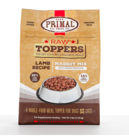 Primal Primal Raw Toppers | Market Mix Lamb & Produce 5 lb (*Frozen Products for Local Delivery or In-Store Pickup Only. *)