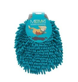 Messy Mutts Messy Mutts | Microfiber Grooming Mitt Blue