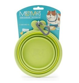 Messy Mutts Messy Mutts | Collapsible Silicone Bowl Green Medium