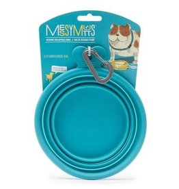 Messy Mutts Messy Mutts | Collapsible Silicone Bowl Blue Small