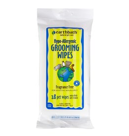 Earthbath Earthbath Hypoallergenic Grooming Wipes Fragrance-Free 28 ct