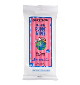 Earthbath Earthbath Wild Cherry Puppy Grooming Wipes Ultra-Mild 28 ct