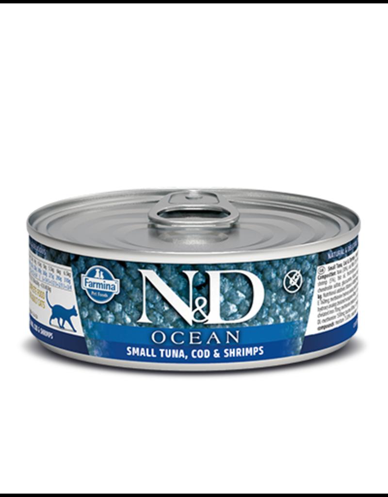 Farmina Pet Foods Farmina GF Cat Cans CASE Ocean Tuna, Cod, Shrimp & Pumpkin 2.8 oz