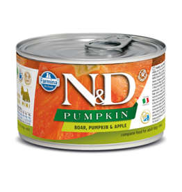 Farmina Pet Foods Farmina GF Dog Cans CASE Pumpkin Boar & Apple Mini Adult 4.9 oz