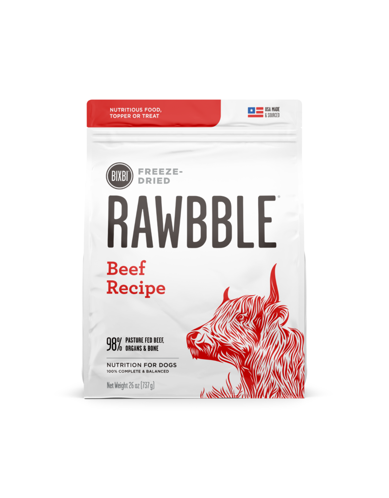Bixbi Bixbi Freeze Dried Rawbble Beef 14 oz