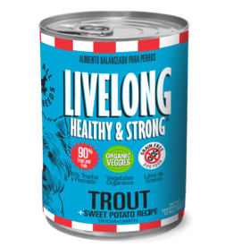 Livelong LiveLong Dog Canned Food CASE Trout & Sweet Potato Recipe 13 oz
