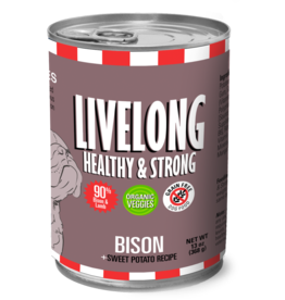 Livelong LiveLong Dog Canned Food CASE Bison & Sweet Potato Recipe 13 oz