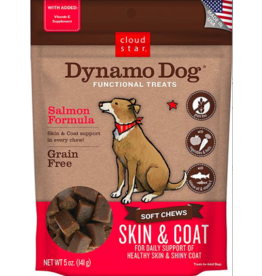 Cloud Star Cloud Star Dynamo Dog Functional Treats Skin & Coat Salmon 14 oz