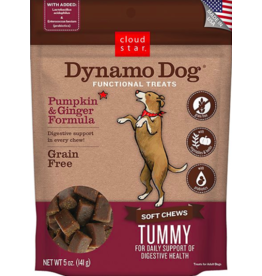 Cloud Star Cloud Star Dynamo Dog Functional Treats Tummy Pumpkin & Ginger 5 oz