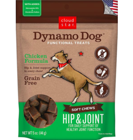 Cloud Star Cloud Star Dynamo Dog Functional Treats Hip & Joint Chicken 5 oz