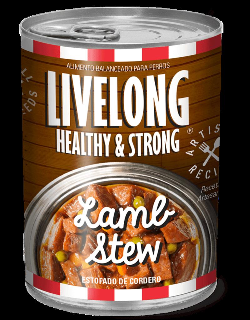 Livelong LiveLong Dog Canned Food CASE Lamb Stew 12 oz