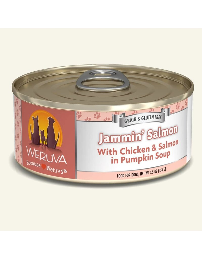Weruva Weruva Original Canned Dog Food CASE Jammin Salmon 5.5 oz