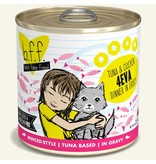 Weruva Best Feline Friend Canned Cat Food CASE Tuna & Chicken 4Eva 10 oz