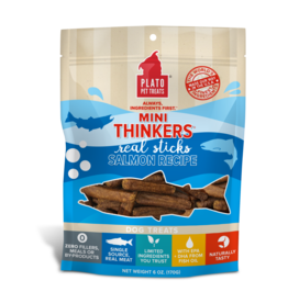 Plato Plato Mini Thinkers Dog Treats | Salmon 3 oz