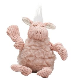 HuggleHounds HuggleHounds FlufferKnottie Dog Toys | Penelope the Pig Large
