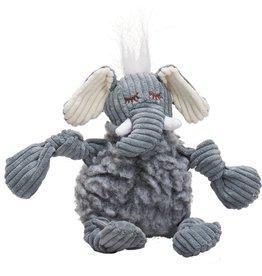 HuggleHounds FlufferKnottie Dog Toys | Ellamae the Elephant Small