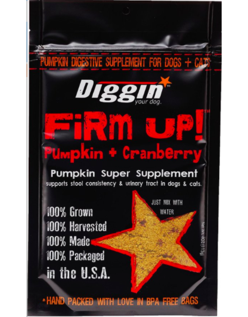 Diggin Your Dog Diggin Your Dog Supplements Firm Up! Pumpkin & Cranberry 4 oz