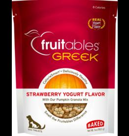 Fruitables Fruitables Crunchy Dog Treats Greek Strawberry Yogurt 7 oz