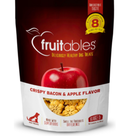 Fruitables Fruitables Crunchy Dog Treats Crispy Bacon & Apple 7 oz