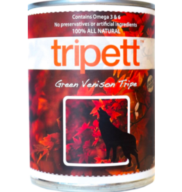 Tripett Tripett Canned Dog Food CASE Venison Green Tripe 13 oz