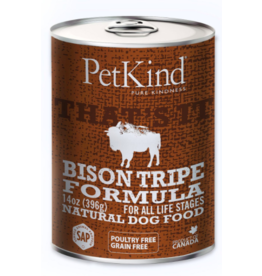 Petkind PetKind Canned Dog Food CASE Bison Tripe 13 oz