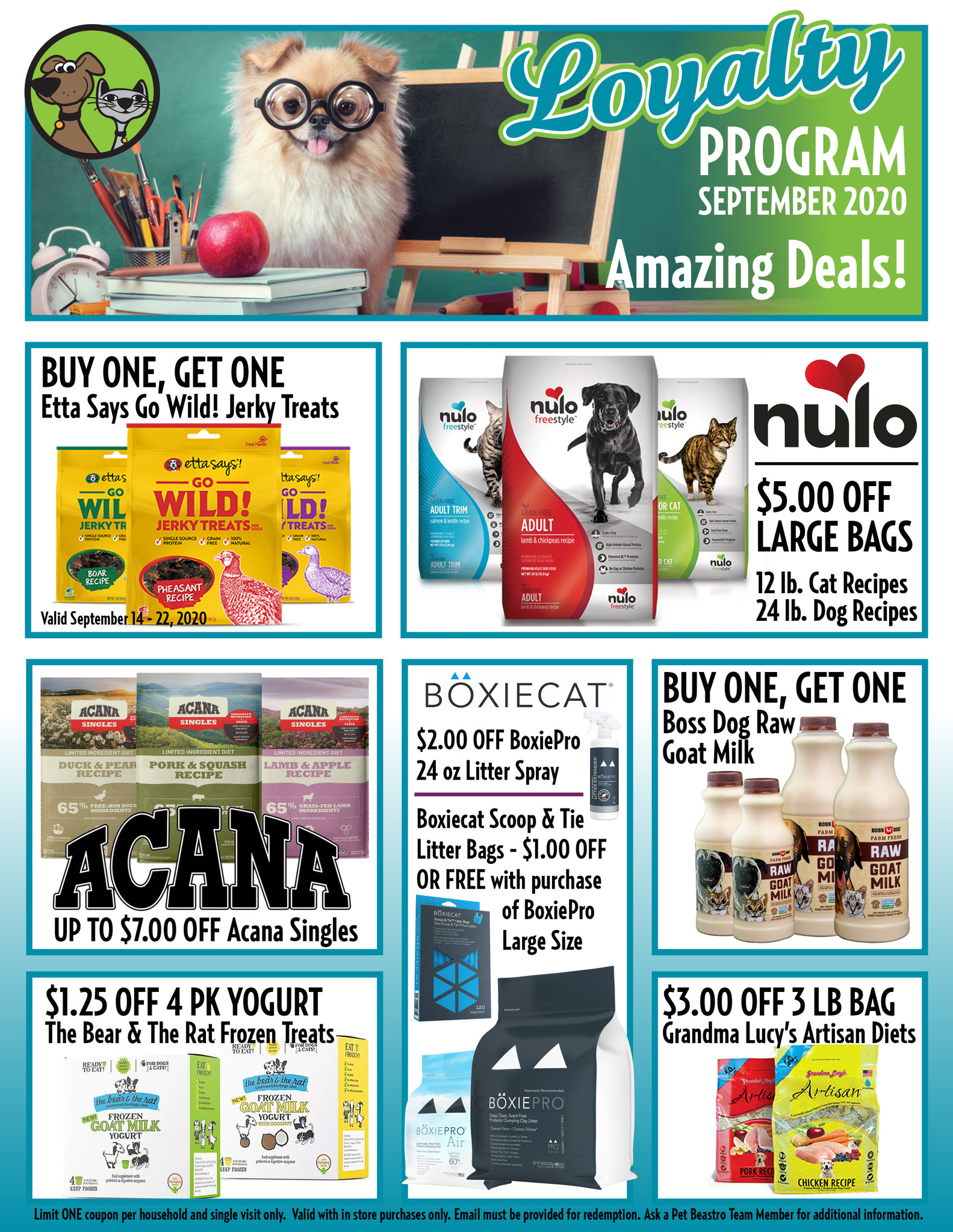 September Loyalty Program Specials For Cats & Dogs Are Here!
