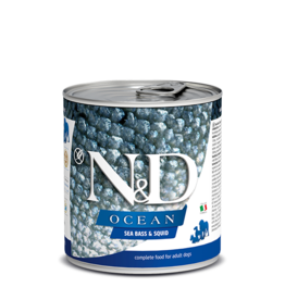 Farmina Pet Foods Farmina GF Dog Cans CASE Ocean Sea Bass & Squid Adult 10.05 oz
