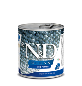 Farmina Pet Foods Farmina GF Dog Cans CASE Ocean Codfish & Pumpkin Adult 10.05 oz