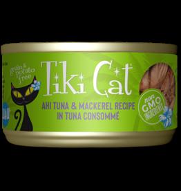 Tiki Tiki Cat Canned Cat Food Papeekeo Luau (Ahi Tuna & Mackerel) 2.8 oz single