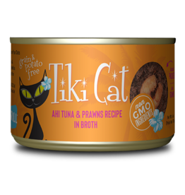 Tiki Tiki Cat Canned Cat Food Manana Grill (Ahi Tuna w/ Prawns) 6 oz single