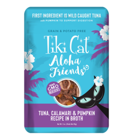 Tiki Cat Tiki Cat Aloha Friends Pouches Tuna w/ Calamari & Pumpkin 3 oz single