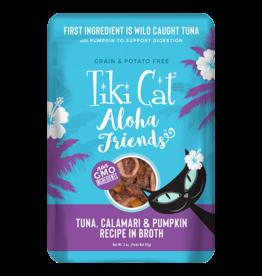 Tiki Tiki Cat Aloha Friends Pouches Tuna w/ Calamari & Pumpkin 3 oz single