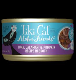 Tiki Tiki Cat Aloha Friends Canned Cat Food Tuna w/ Calamari & Pumpkin 3 oz single