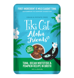 Tiki Cat Aloha Friends Pouches Tuna w/Ocean Whitefish & Pumpkin 3 oz single