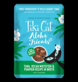 Tiki Tiki Cat Aloha Friends Pouches Tuna w/Ocean Whitefish & Pumpkin 3 oz single