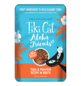 Tiki Cat Aloha Friends Pouches Tuna w/ Pumpkin 3 oz single