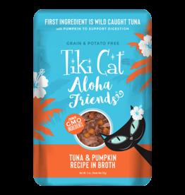 Tiki Tiki Cat Aloha Friends Pouches Tuna w/ Pumpkin 3 oz single