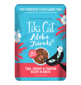 Tiki Cat Aloha Friends Pouches Tuna w/ Shrimp & Pumpkin 3 oz single