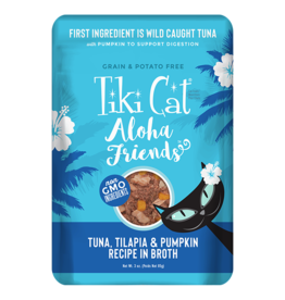 Tiki Cat Aloha Friends Pouches Tuna w/ Tilapia & Pumpkin 3 oz single