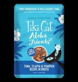 Tiki Tiki Cat Aloha Friends Pouches Tuna w/ Tilapia & Pumpkin 3 oz single